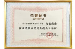 江湖菜荣誉证书