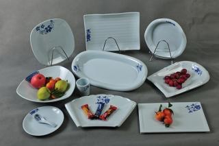 蓝玉瓷餐具套装定制